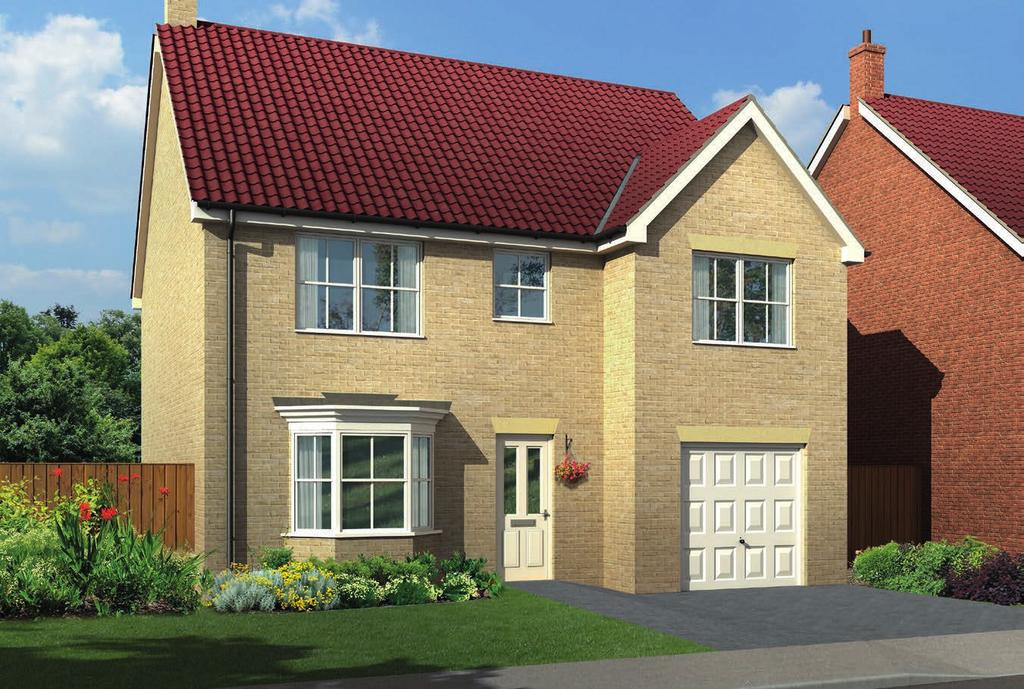 The Tetbury Utility Kitchen/Day Room W/C Cpd Bedroom 3 Bedroom 4 Garage Bedroom 5 Hall Lounge Landing Cpd Bathroom En Suite Bedroom 1 Bedroom 2 A four/five bedroomed detached house with single