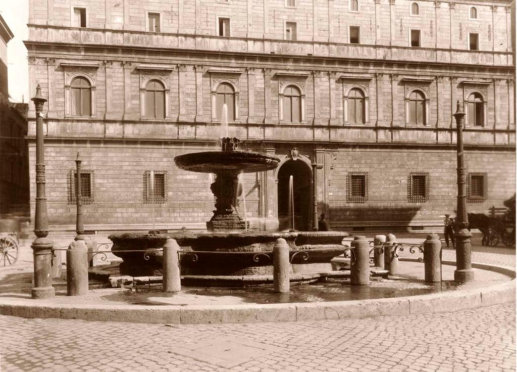 fountain and sectional elevation of the basin.