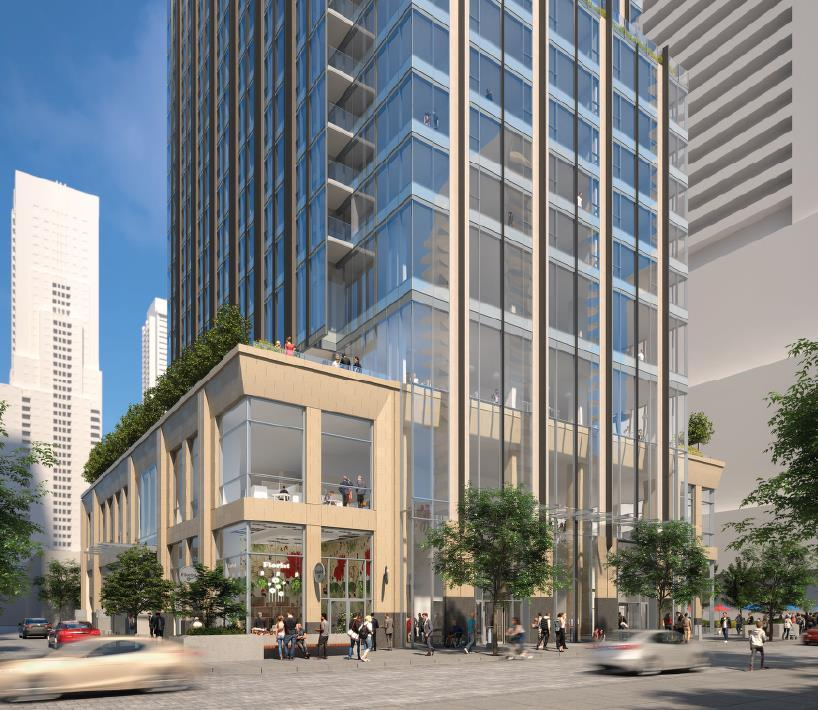 5M sf of luxury condominium and retail uses and up to 82 rental units Ownership: 50/25/25 joint venture among RioCan, Metropia and Capital Developments Zoning Status: Zoning Bylaw Amendment submitted