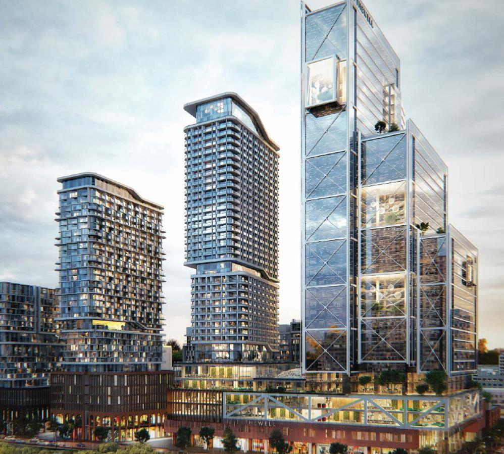 MIXED-USE DEVELOPMENT THE WELL, Location: 7.7 acre site situated at the gateway to downtown Toronto, at Front and Spadina. Transit oriented adjacent to the site of a proposed intercity GO Train stop.
