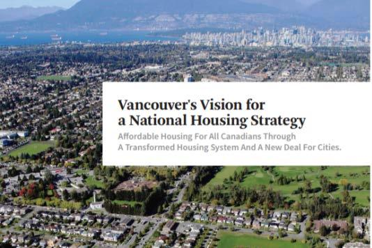 Alignment with New Senior Government Commitments New National Housing Strategy includes