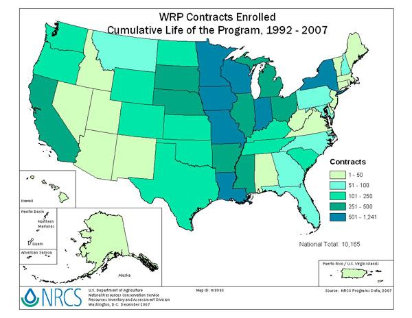 Figure 3. WRP Number of Contracts by State http://www.nrcs.