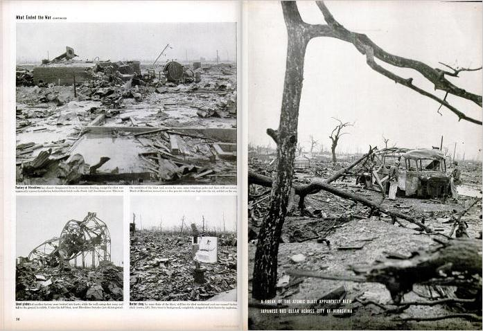 On September 17, Life ran more photographs, this time shot from the ground at Hiroshima (see Figure 34)