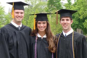 ALUMNINEWS 2007 Joe Jensen, Lauren Walsh and Peter Ritchie graduated from the University of Notre Dame May 22. Joe began medical school at the University of Minnesota.