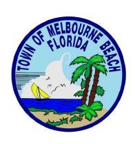 TOWN OF MELBOURNE BEACH 2016 DEVELOPMENT APPLICATION I. SUBMITTAL REQUIREMENTS: 1. Fees per current schedule. 2. Deed to property. 3. Pre-Application meeting is mandatory.