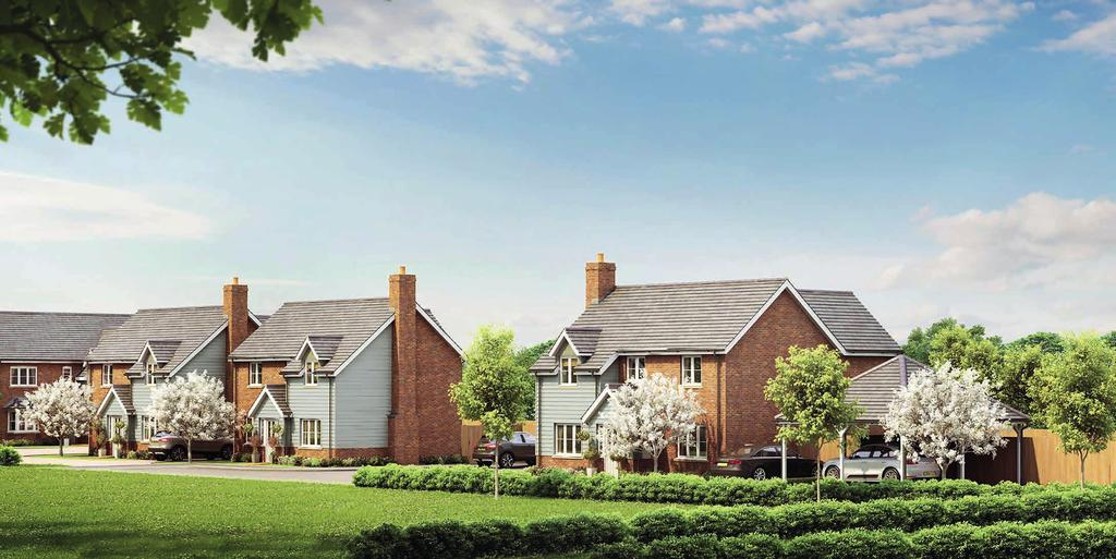 Overlooking the beautiful Totternhoe Nature Reserve is this beautiful small development of just six all private homes.