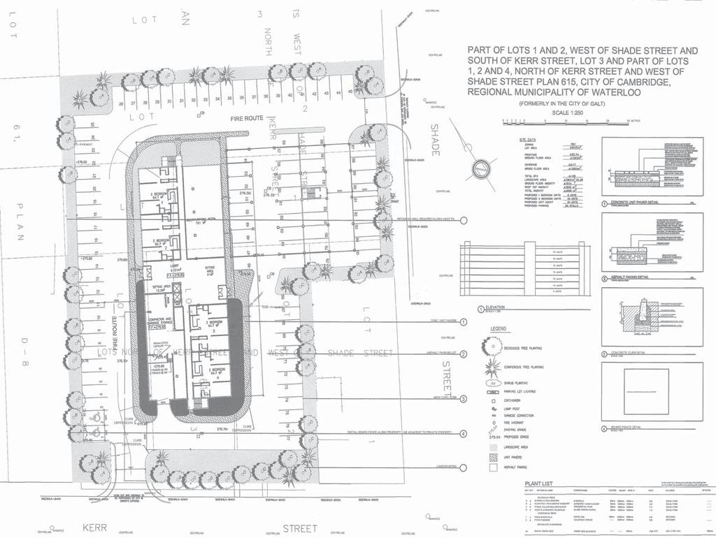 Real Estate Profile Site Plan and 1st Floor