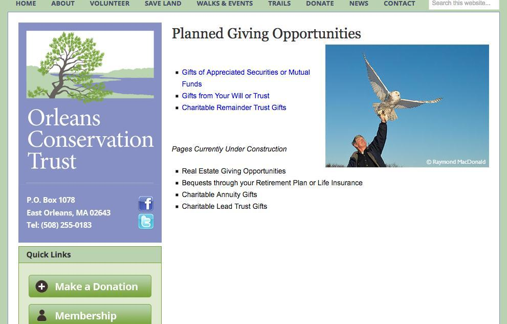 Planned Giving Opportunities current