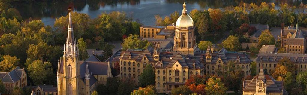 University of Notre Dame The University of Notre Dame is a four-year, Catholic research university that is highly recognized for its academics, athletics, and beautiful campus.