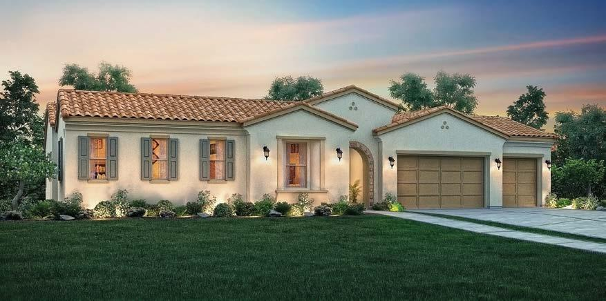 PLAN 1A - SPANISH EXTERIOR PLAN 1B - TUSCAN EXTERIOR PLAN 1C - FRENCH EXTERIOR South Reno Estate Home with Hobby Room and Private