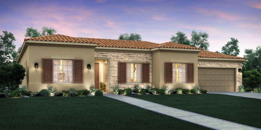 PLAN A - SPANISH EXTERIOR PLAN B - TUSCAN EXTERIOR PLAN C - FRENCH EXTERIOR South Reno Estate Home with Covered Loggia and