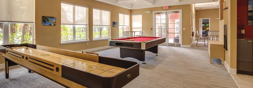 Billiards Bark park Gated access Attached garages and