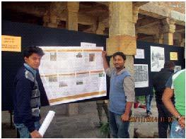 workon Mehrauli Archaeological Park in the exhibition at the Qutb World Heritage Site organized