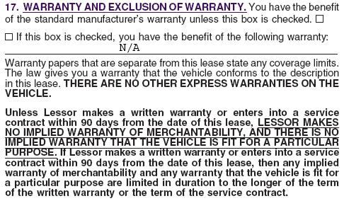 NOTE: Refer to item 22 of Lease Agreement 10, which describes the general insurance requirements and the special requirements that apply to trucks of 10,000 lbs.
