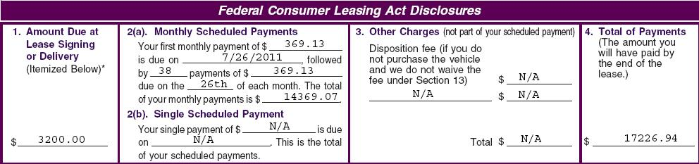 3. Calculate a temporary reduced total base monthly payment (instead of lease worksheet item 25B) by eliminating all capitalized service and maintenance contract costs and creditor life/disability