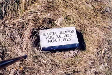 Jackson, Juanita; born 26 Aug 1923; died 01 Nov 1925 Jackson,