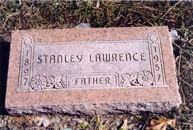 Lawrence, Stanley; born 1897; died 1957; Father ; husband of Josephine M.