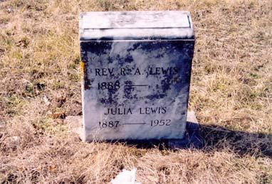 Lewis, Richard A. Rev.; born 1888; husband of Julia Lewis; son of Rev. William E.