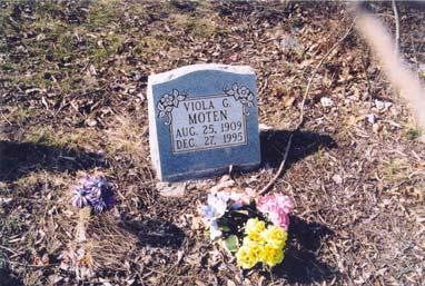 ; born 25 Aug 1909; died 27 Dec 1995; wife of Samuel Moten, Sr.
