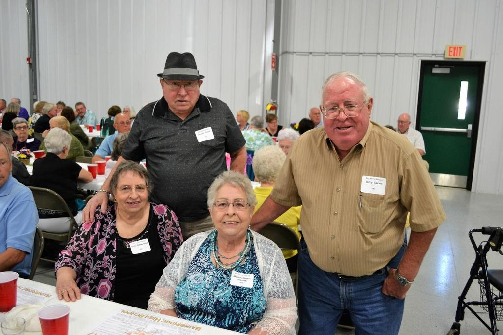 The four Games family siblings attending this year s banquet included: seated L-R are Linda Games Stark (BHS