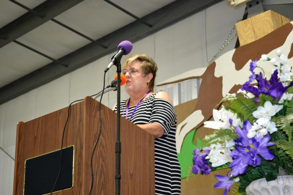 Carolyn Smith Webber spoke for the honored 50