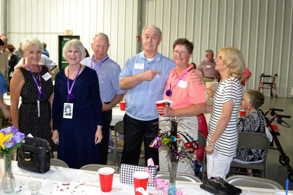 Some of the members of the 50 year 1967 class enjoy visit with friends.