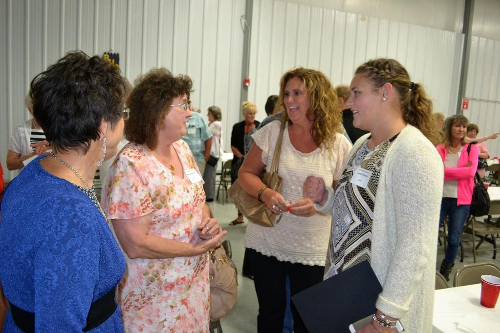 Shown visiting BHS Alumni scholarship winner Lyndi Parent on right are from L-R are Nina Ader Morgan (BHS & NPHS 1972),