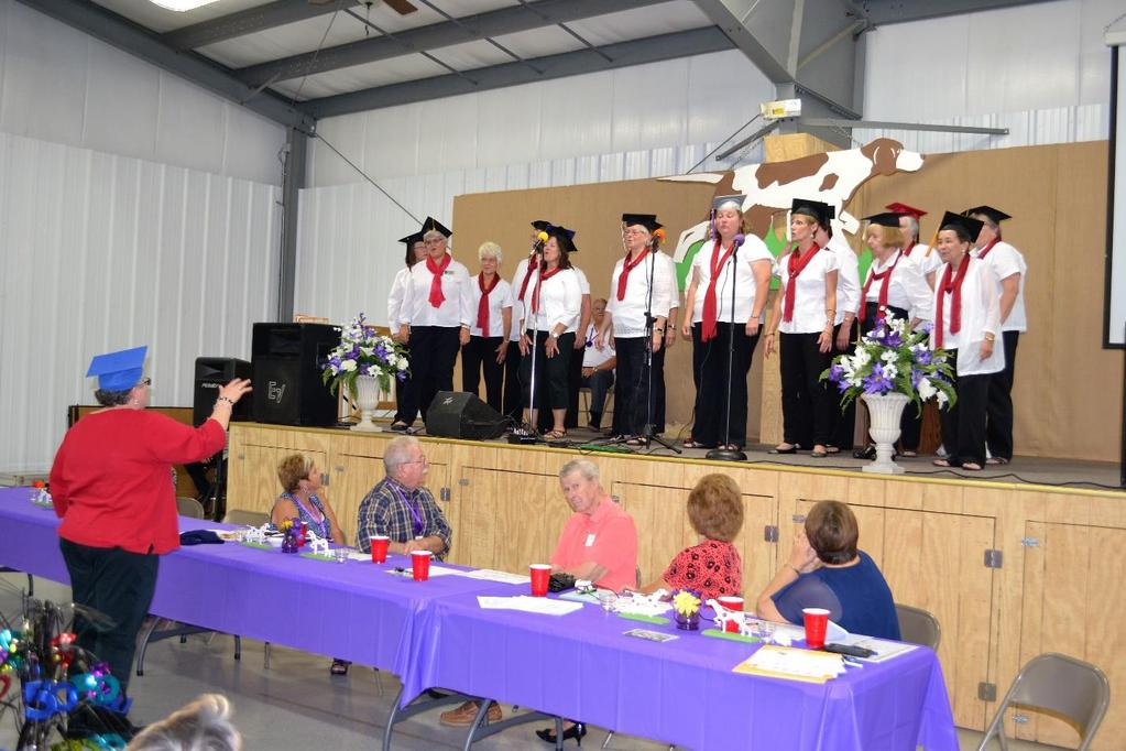 Covered Bridge Harmony Chorus sings Graduation Day much to the
