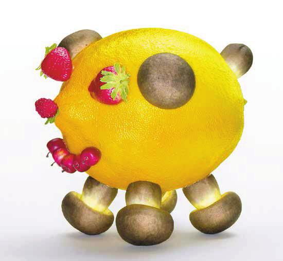 OLAF BREUNING Lemon Pig, 2004 For Parkett 71 Styrofoam, ca.