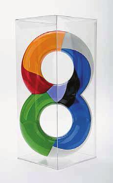 BERNARD FRIZE Percy John Heawood Conjecture, 2005 For Parkett 74 Double torus cast in Polyurethane, painted in eight