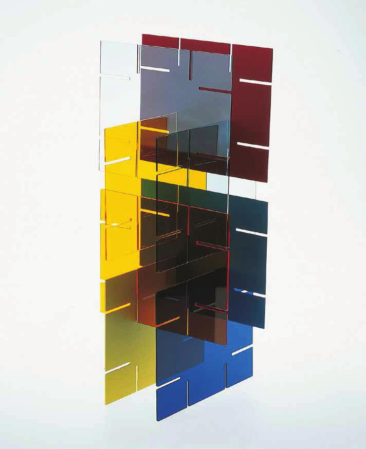 LIAM GILLICK Literally No Place, 2001 For Parkett 61 5 plexiglas and 3 aluminum plates in different