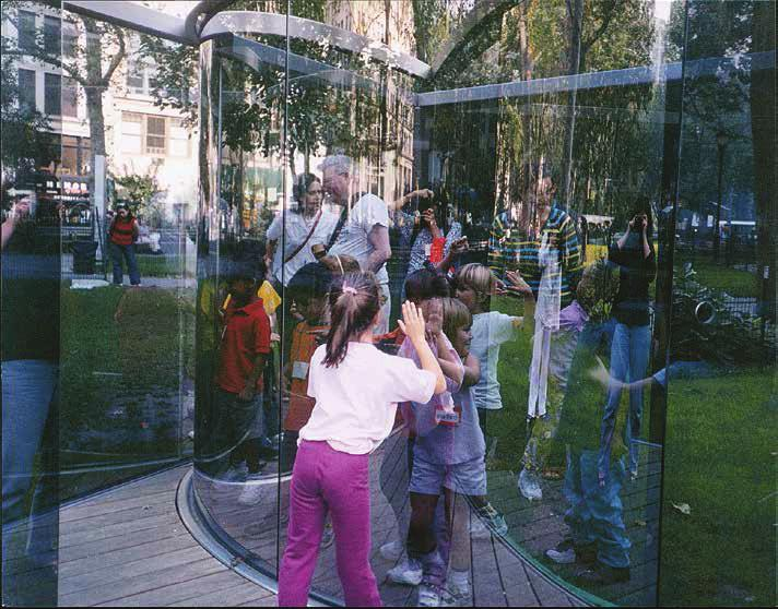 DAN GRAHAM Fun for Kids at my Work in a Park in Manhattan, 2003 For Parkett 68 Piezo Ultrachrome Pigment print on Hahnemühle paper, 13 x 16 1