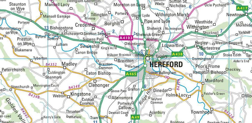 Directions From Hereford proceed out on the A465 towards Abergavenny and continue out of the city, and after passing Tesco Superstore, continue for a further 1.5 miles.