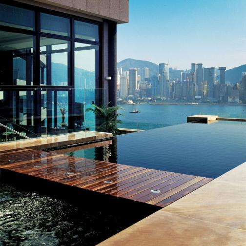 The large terrace with a wrap-around view of Victoria Harbour, Hong Kong Island and Kowloon InterContinental Hong Kong Asia s most spectacular Presidential Suite InterContinental
