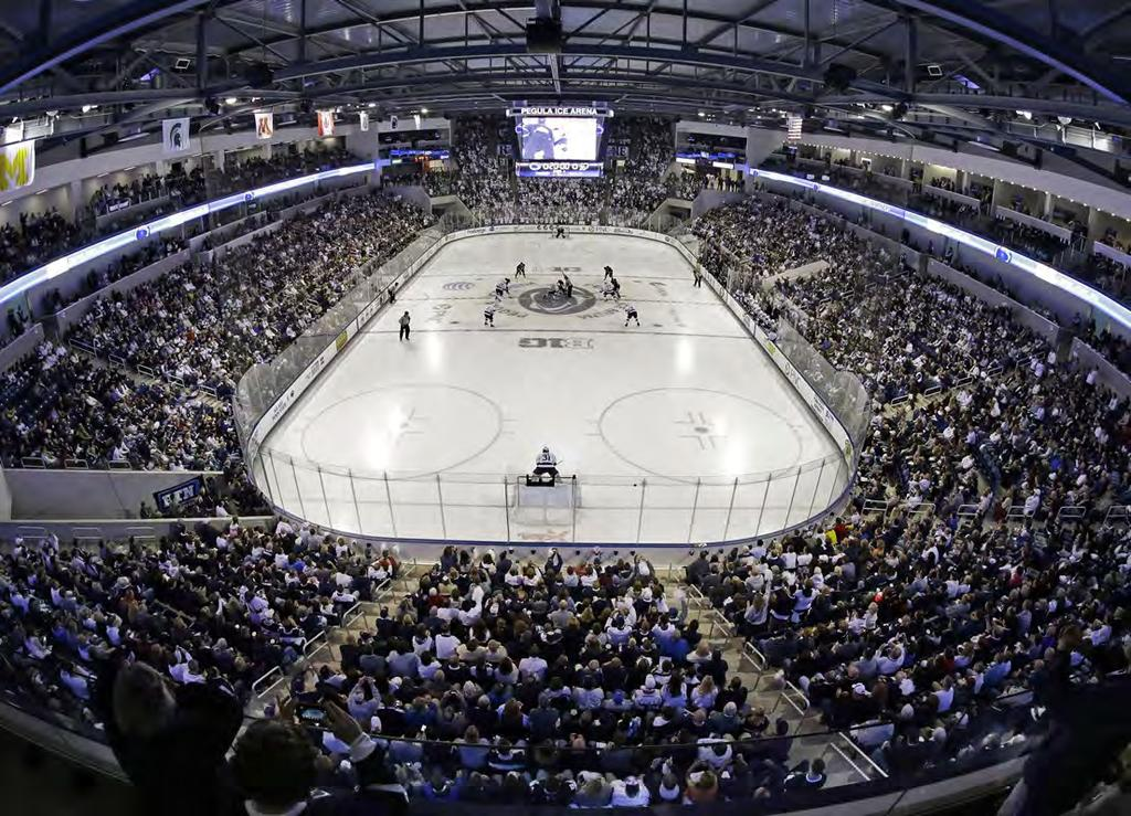 CONSTRUCTION COST $89 million TIMEFRAME Began: 2011 Completed: 2013 Pennsylvania State University Pegula Ice Arena UNIVERSITY PARK, PENNSYLVANIA The new state-of-the-art venue was designed to be a