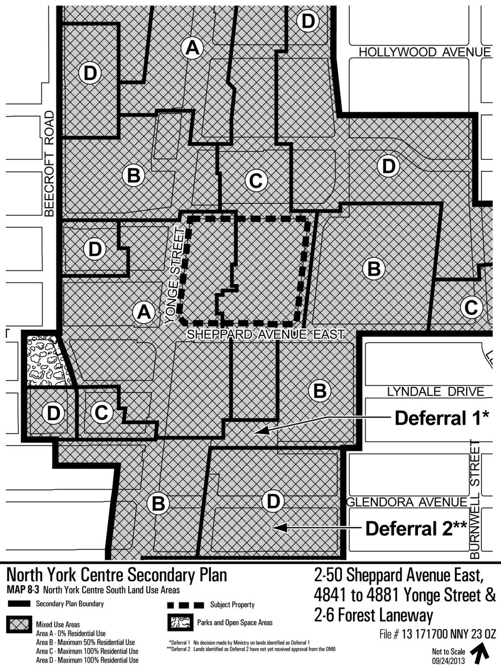 Attachment 5: North York Centre Secondary Plan Land Uses Staff report for