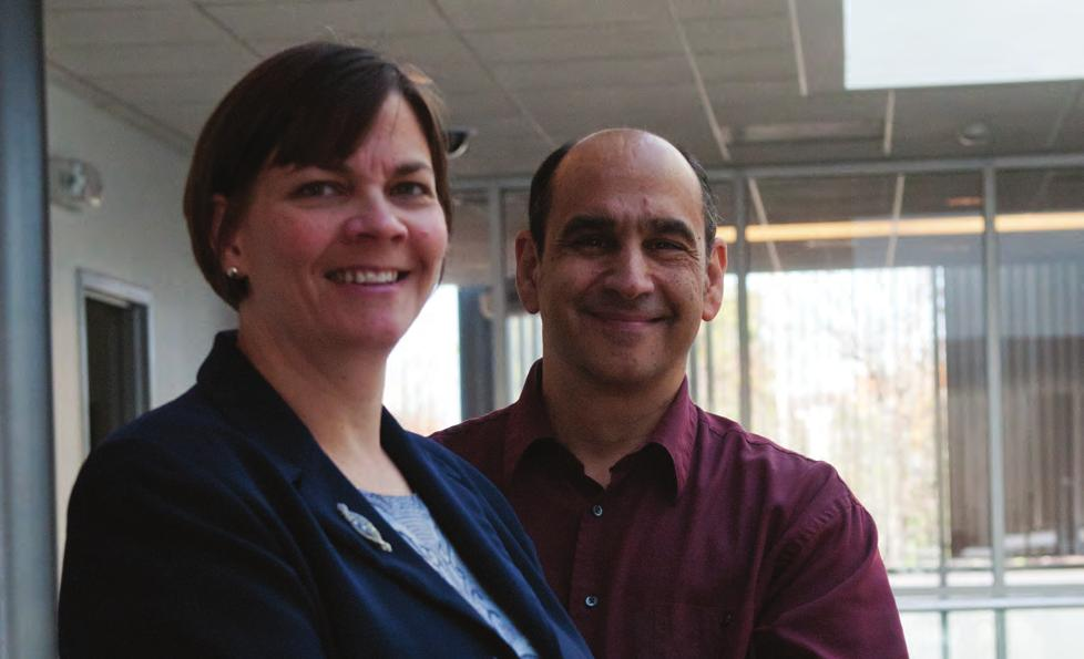 RAISING the PROFILE Professors Joseph Giordano and Jennifer Trost Economic Crime, Justice Studies, and Cybersecurity Building G reat teaching doesn't require great facilities.