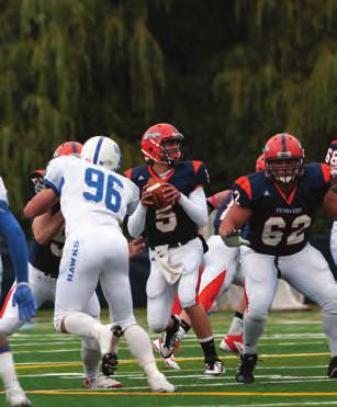 The football team featured the most potent passing offense in the Empire 8 conference, averaging