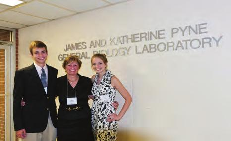 School of Arts and Sciences Renovated Biology Lab Named for Jim 59 and Kitti Pyne dedicated the James '59 and Katherine Pyne General Biology Laboratory at a September 9 ceremony.