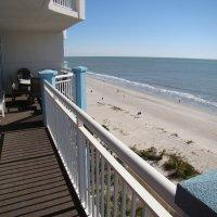 On the 8th floor, 2800 sq. ft, 35 foot long, 300 sq ft ocean front balcony, 5 dedicated bedrooms, 4 full baths.