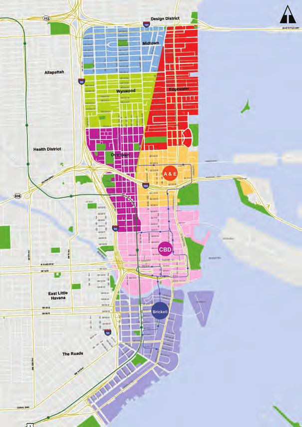 Greater Downtown Miami Market Submarket Map