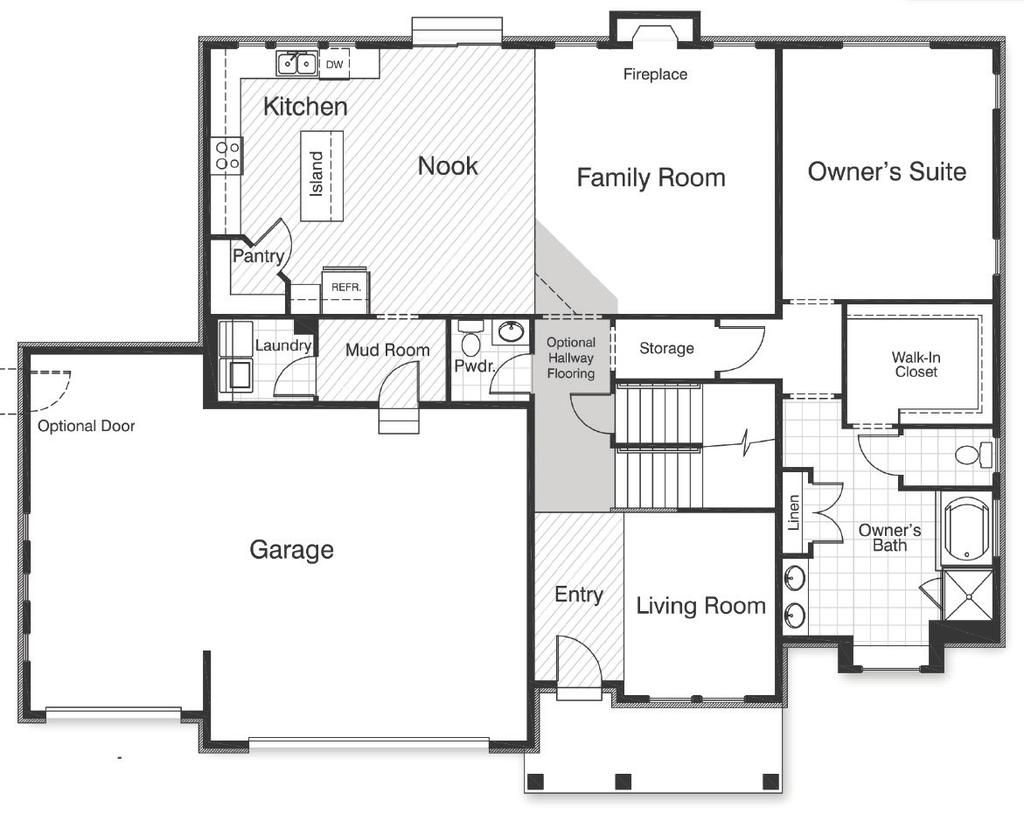 Vista Ridge Grand Uinta First Floor Approx. 1,851 sq. ft. Owner s Suite 14-0 X 16-8 Owner s Bath 14-0 X 13-9 Owner s W.I.C.