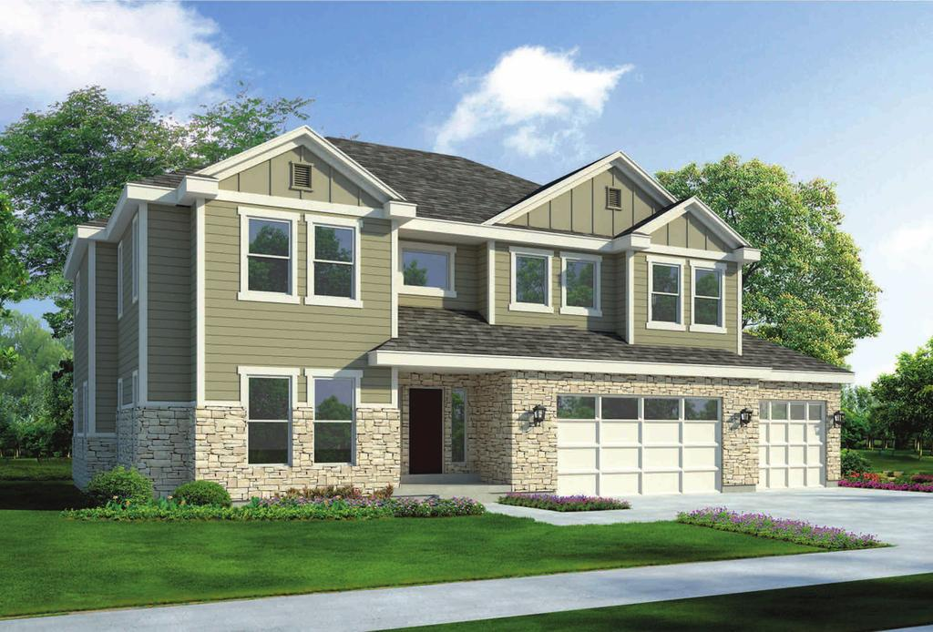 Walk-in Pantry Stone & Hardie Exterior Siding 3 Car Garage Nest Thermostat 32 Fireplace with Wood Mantel 60 Dual Sinks in Master