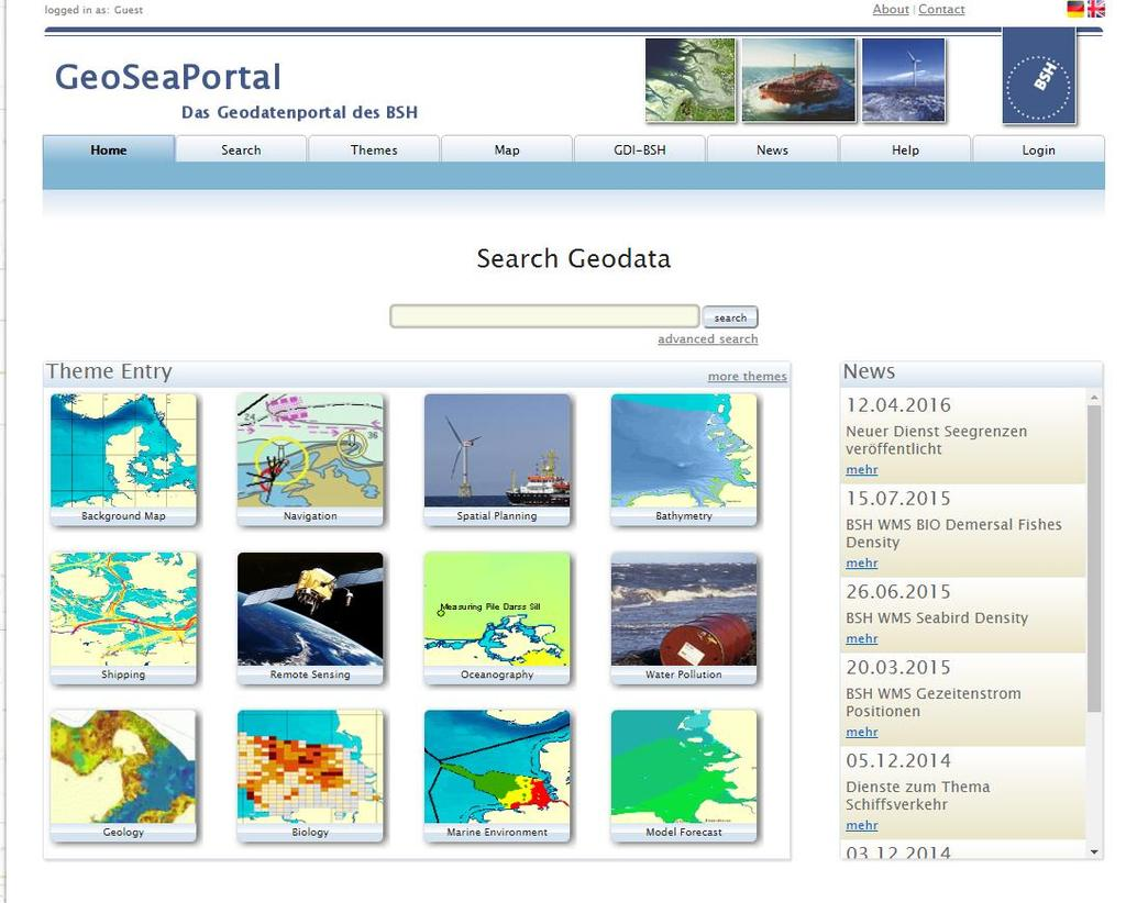 State of Play of Marine Cadastre in Europe GERMANY https://www.geoseaportal.