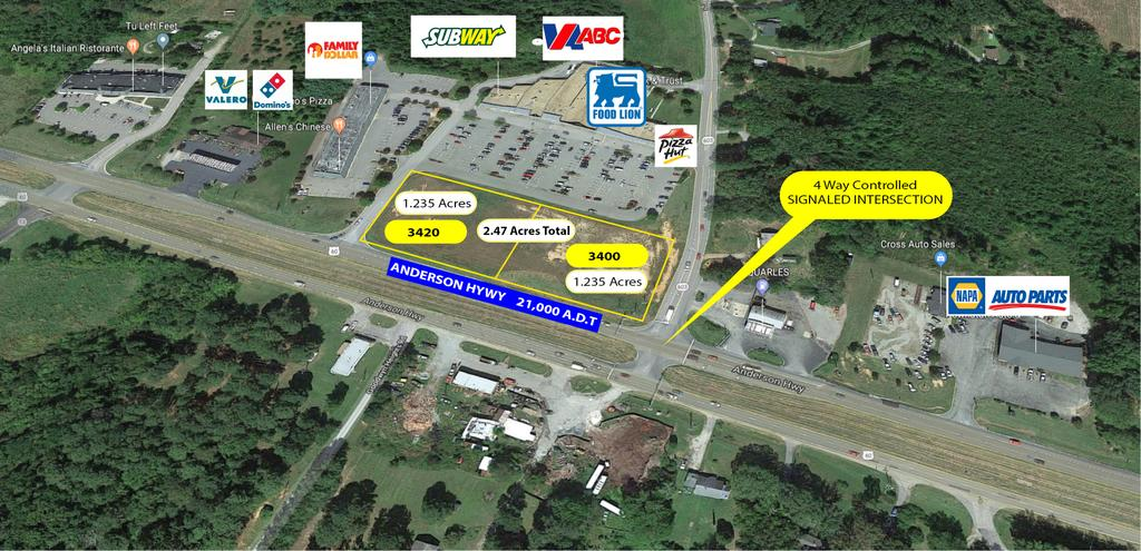 LAND FOR SALE DEVELOPMENT LAND PARCEL FOR SALE IN POWHATAN 3400 Anderson Hwy, Powhatan, VA 23139 OFFERING SUMMARY PROPERTY OVERVIEW SALE PRICE: $350,000 LOT SIZE: 1.235 acre lot (2) 1.
