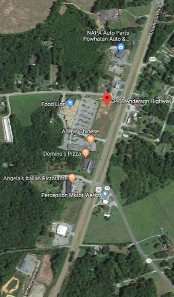 LAND FOR SALE DEVELOPMENT LAND PARCELS FOR SALE IN POWHATAN 3400 Anderson Hwy, Powhatan, VA 23139 PROPERTY OVERVIEW (2) 1.
