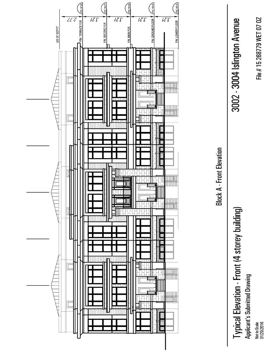 Attachment 3 Typical Elevation- Front (4 storey building) Staff