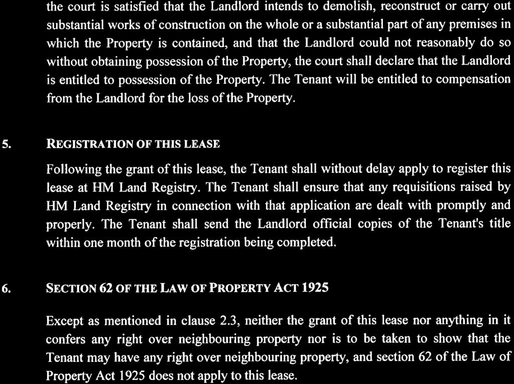 2 No long lease created immediately or derivatively by way of sub-demise under this lease shall confer on the sub-tenant, as against the Landlord, any right under Chapter II of the Leasehold Reform,