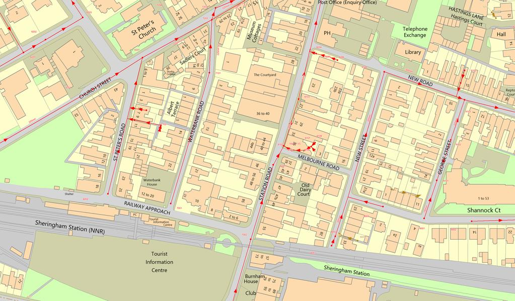 N (c) Crown copyright and database rights 2018 Ordnance Survey 100022432 Date: 28/09/18 Scale: 1:1000 Map Centre: 615787,343128 Title: G2374369-1 Foul Sewer Surface Sewer Combined Sewer Final