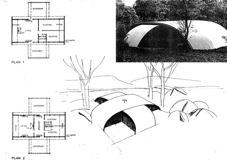 Name Timothy Thema O Rourke Architectural Experiments in Aboriginal Housing in the Early 1970s Based on his observations of Aboriginal camps and housing, McPhee designed a house with a space frame